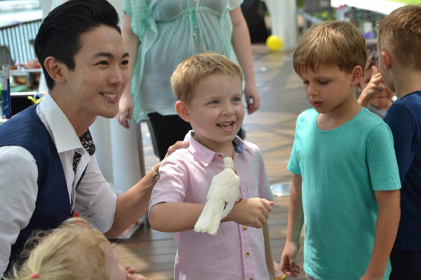tommy kian magician kids dove party
